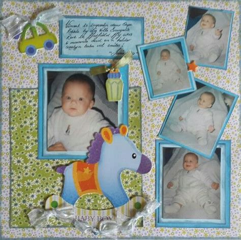 scrapbook layout baby boy scrapbook page baby boy layout food pinterest