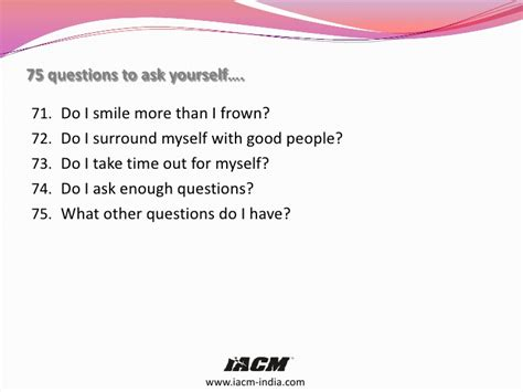 how to ask to be my 75 questions to ask yourself