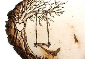 free wood burning templates tree swing country design wood slice rustic theme wedding