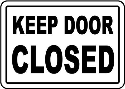 keep door closed sign g1908 by safetysign