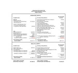 Budget Expenditure Template 9 Capital Expenditure Budget Templates Free Sample