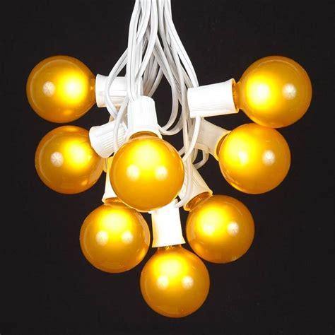white globe string lights 100 yellow g50 globe string light set on white wire