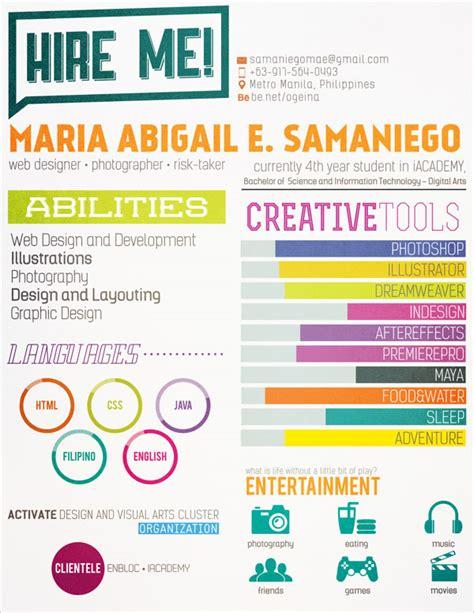 simple colourful resume design 10 interesting simple