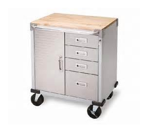 servante atelier 4 tiroirs 1 compartiment plateau bois
