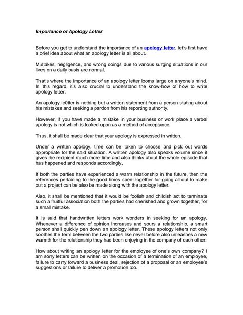 Business Apology Letter Subject apology letter to client for mistake docoments ojazlink