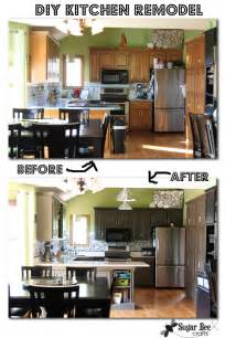 Diy kitchen remodel oak cabinets to painted gray mosaic tile