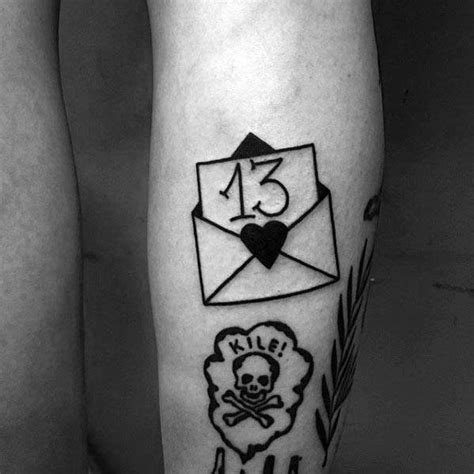 number 13 tattoo designs 30 envelope designs for mail ink ideas