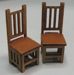 Dining Room Chair Kits Qs334 Mission Style Dining Chairs 4 00 Cary S Miniatures Quarter Scale Kits Wicker