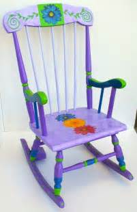 Wide Rocking Chair Hand Painted Kid S Furniture