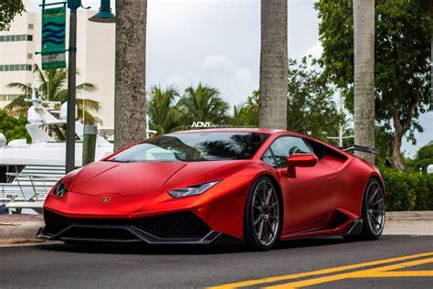 Metallic Matte Red Lamborghini Huracan LP610  ADV10 Track