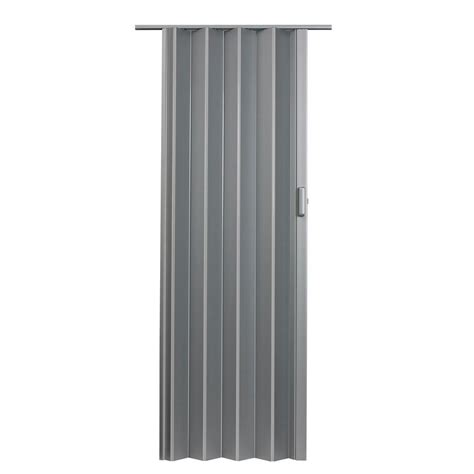 Spectrum Accordion Doors by Spectrum 36 In X 80 In Elite Vinyl Satin Silver