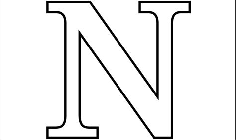 free coloring pages letter n 6 best images of printable big letter n large letter n