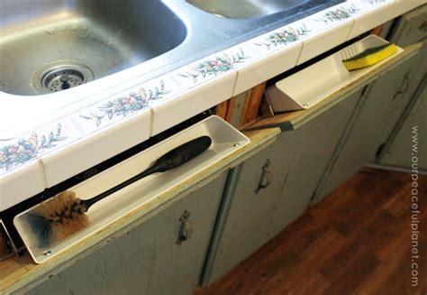 sink tip out tip out hidden sink drawer