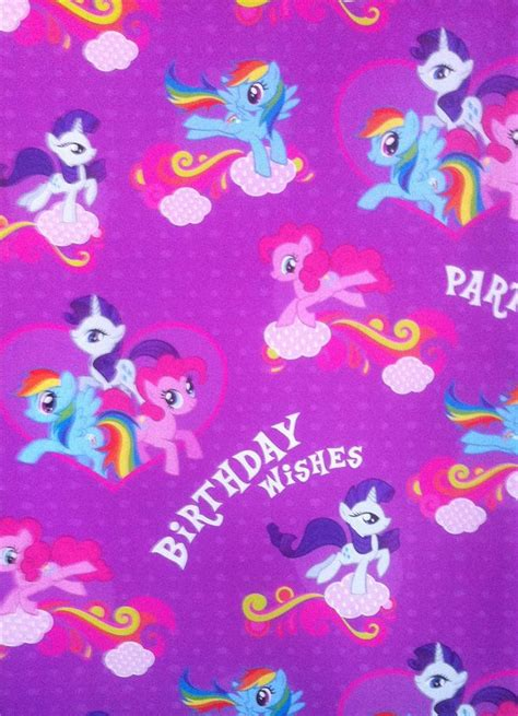 My Little Pony Gift Wrapping Paper - my little pony purple wrapping paper gift wrap for birthday presents ebay