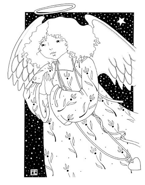 angel free coloring page me designs pinterest