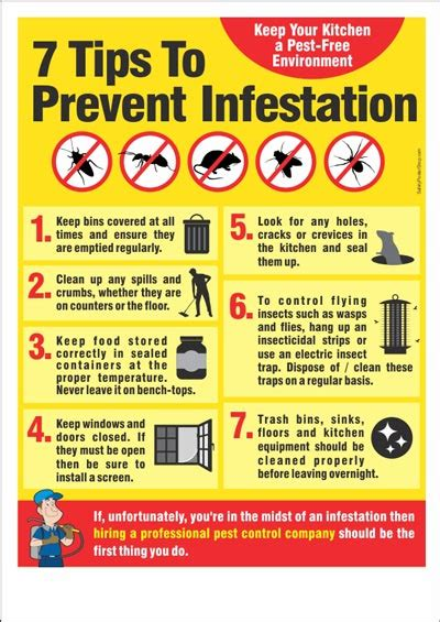 7 Hygiene Tips by Food Safety Poster 7 Tips To Prevent Infestation