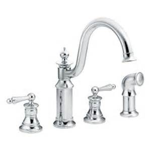 Moen Showhouse Kitchen Faucet Moen Showhouse S712 Waterhill Two Handle Kitchen Faucet With Matching Side Spray Chrome