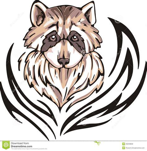 cartoon raccoon tattoo raccoon tattoo stock vector illustration of decorative