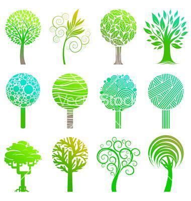 Tasya Overall Set set of trees emblem vector tree images 클립