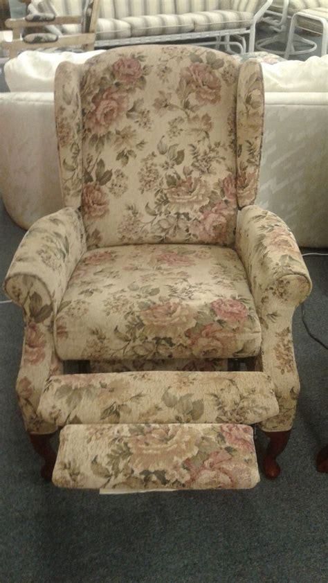 floral recliner lane floral push back recliner delmarva furniture