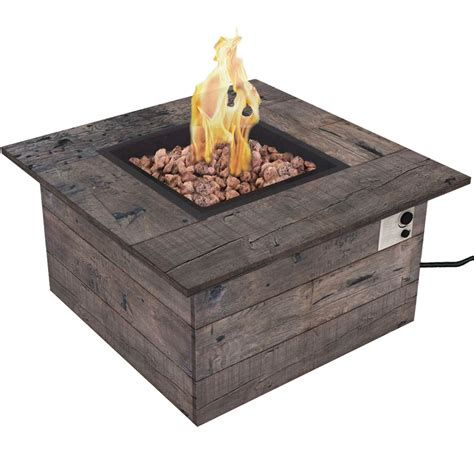 Bond Manufacturing Galleon Wood Propane Gas Fire Table Gas Firepit Tables