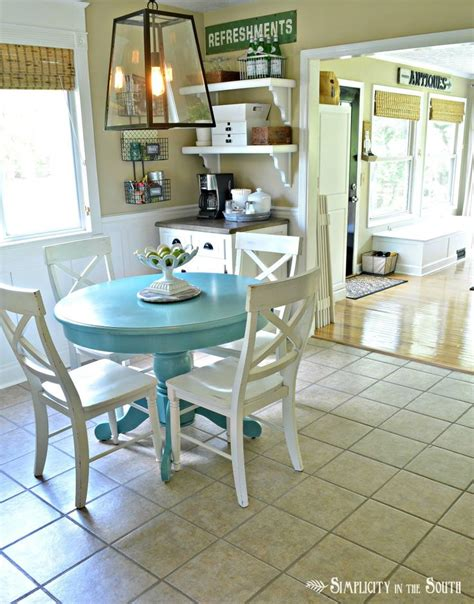 kitchen table painted with sloan chalk paint in