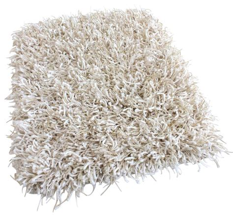 White Fluffy Area Rug 6 Quot X 6 Quot Sle Fluffy White Shaggy Area Rug Carpet With Polyester Edges Contemporary Area