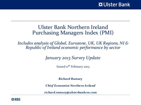 ulster bank banking ni northern ireland pmi slide pack january 2013