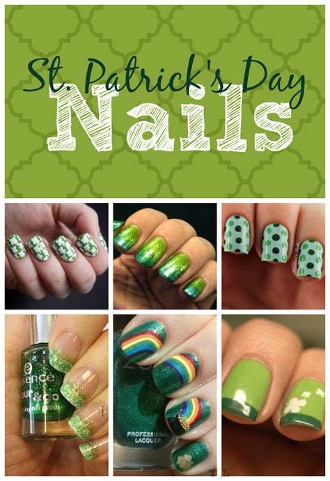 easy nail art st st patrick s day nail art designs