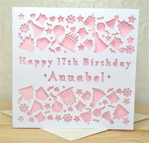 make personalised cards personalised laser cut birthday card by sweet pea design