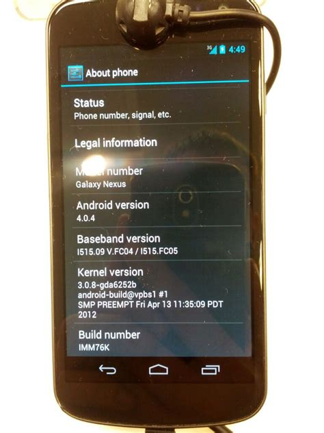 galaxy nexus where is the serial number android forums verizon galaxy nexus 4 0 4 update unofficially officially