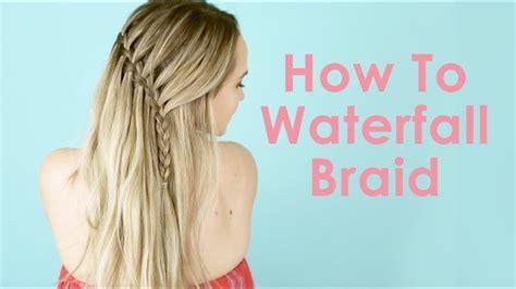 waterfall braid hair tutorial  beginners kayleymelissa youtube