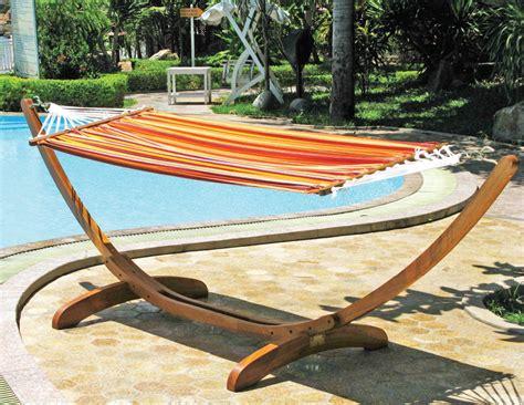 amaca da giardino con supporto amaca con supporto in legno lamacchia mobili da giardino
