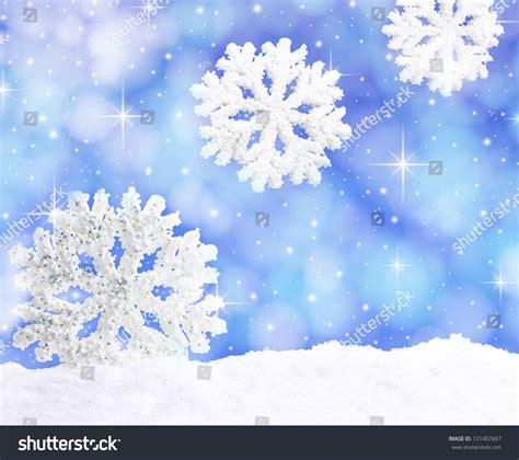 snowflakes falling sky stock photo  shutterstock