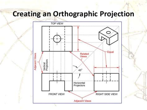 engineering drawing orthographic projection auxiliary view