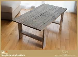 table basse en bois de palette recycl 233 e meubles et
