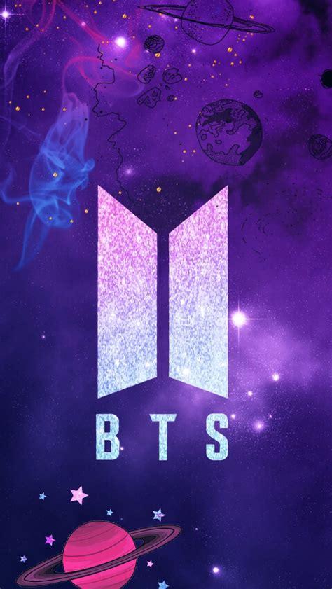 bts symbol wallpaper freetoedit remixed bts logo wallpaper galaxy