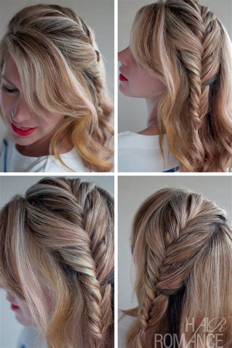 how to do a messy side braid romantic messy side french fishtail braid hairstyles weekly
