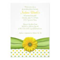 yellow and green polka dots baby shower invitation 5 quot x 7 quot invitation card zazzle