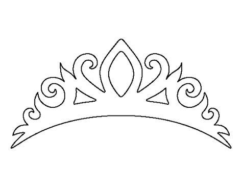 printable disney crown tiara pattern use the printable outline for crafts