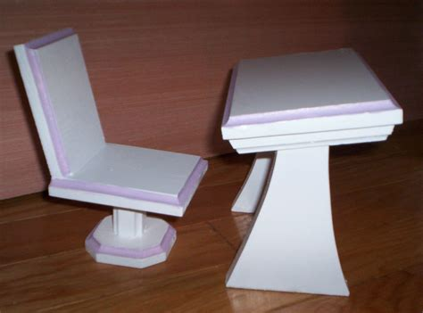 handmade doll desk and chair for 18 inch doll white with
