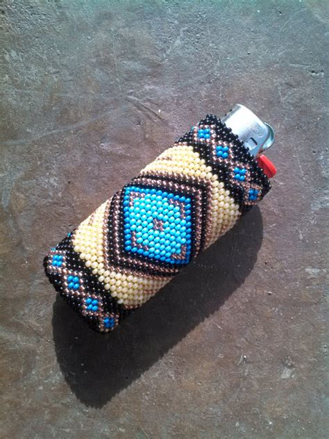 how to make beaded lighter cases items similar to american beaded lighter cover