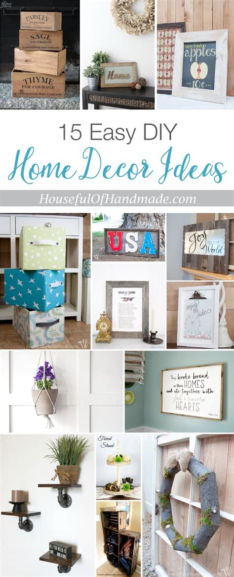 home decor diy ideas 15 easy diy home decor ideas a houseful of handmade