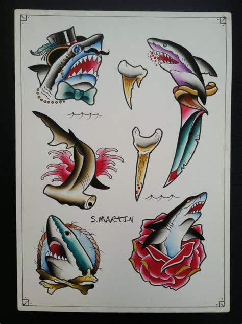 tattoo old school shark different colorful old school shark tattoo designs