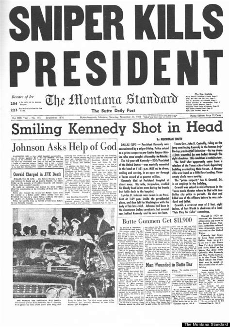 how the world s newspapers reported jfk s assassination