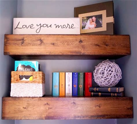 diy chunky wood floating shelves old house to new home