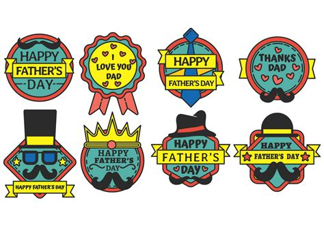 happy fathers day comments happy fathers day badge vector free vector