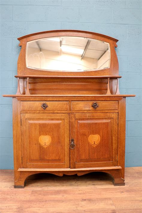 mirror sideboard arts and crafts oak sideboard with mirror antiques atlas
