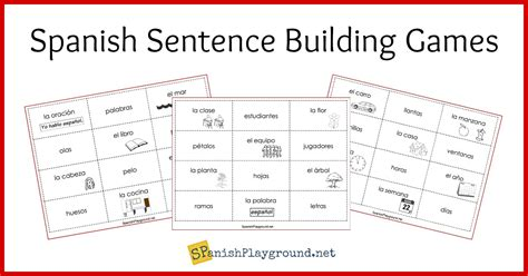 spanish sentence building games spanish playground