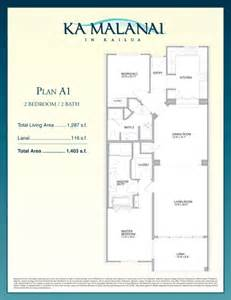 2 bedroom 2 bath condo floor plans ka malanai floor plans a1 and a2 ironwoods kailua condos